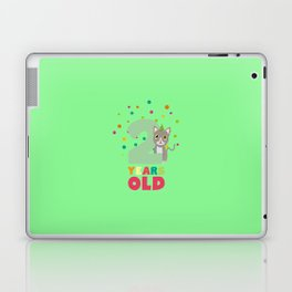 Two Years second Birthday Party Cat T-Shirt D7fw4 Laptop & iPad Skin