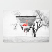 flamingo Canvas Prints featuring Flamingo by Mehdi Elkorchi