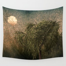 Willow at Sunset Wall Tapestry