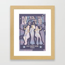 Donna and the Dynamos 70s Concert Poster Framed Art Print