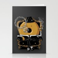 gangster Stationery Cards featuring Gangster Donut by Javier Ramos