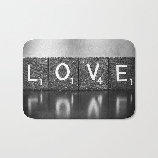 Love is a Beautiful Word - a fine art photograph Bath Mat