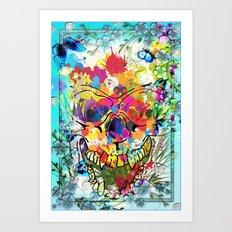 Skull Botonical Art Print