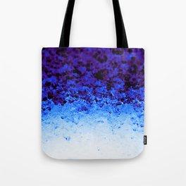 Indigo Blue Ombre Crystals Tote Bag