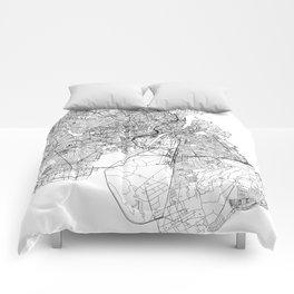 Copenhagen White Map Comforters