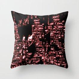 Night Glowing City Throw Pillow