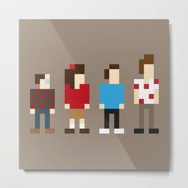Pixel Seinfeld Metal Print