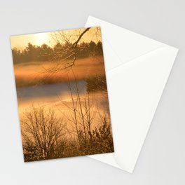Misty Morning By The River Stationery Cards