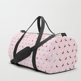 Little Candy Bat Pattern on Pink Duffle Bag