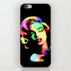 Marilyn Monroe Rainbow Colors  iPhone Skin