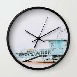 santa monica, california Wall Clock