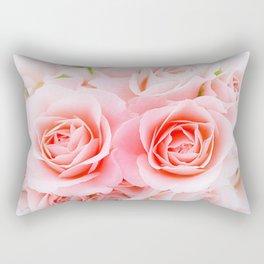 Romantic Pink Roses Rectangular Pillow