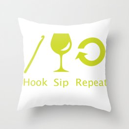Hooks and Wine Throw Pillow