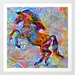 Polychrome Pony Art Print