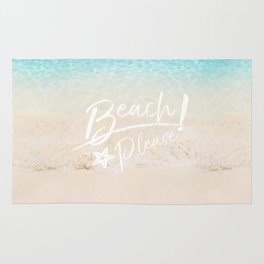 Beach Please! Quote Rug