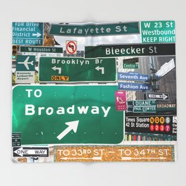 New York City Streets Throw Blanket