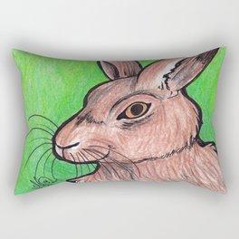 Brown Rabbit Rectangular Pillow