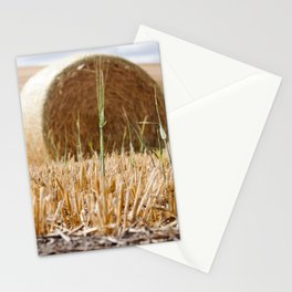Wheat Bale Photography Print Stationery Cards