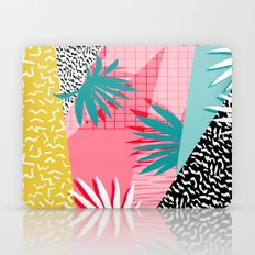 Bingo - throwback retro memphis neon tropical socal desert festival trendy hipster pattern pop art  Laptop & iPad Skin