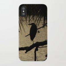 Heron Silhouette iPhone X Slim Case