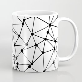 Ab Out Lines With Spots White Coffee Mug