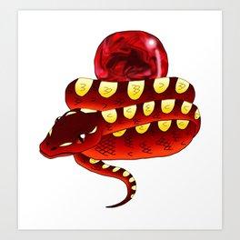 Snake Piece #29 - Summon Materia Art Print