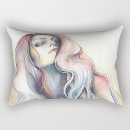 """""""Great Void"""" Watercolour and Gouache Surreal Painting Rectangular Pillow"""
