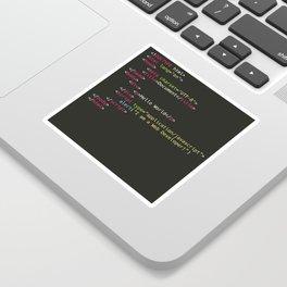 Hello World, I am a Web Developer Sticker