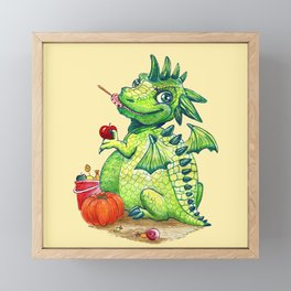 Little Dragon Framed Mini Art Print