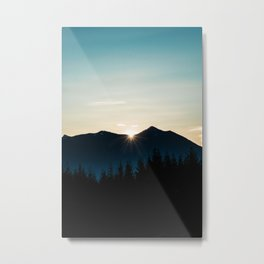 Mountain Starburst Metal Print
