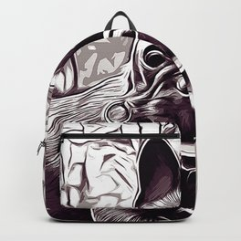 french bulldog basketball vector art black white Backpack