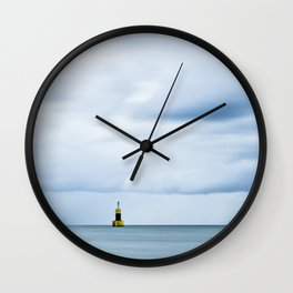 Sea, Lighthouse & Stormy clouds Wall Clock