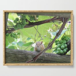 Garden Guard of the Grapes Serving Tray