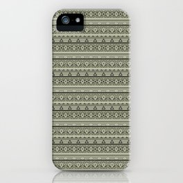 Grey , brown , ethnic , ornament , tribal , ethnic iPhone Case