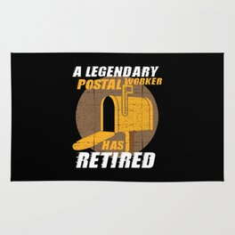 Retired Postal Worker Retirement Gift Rug