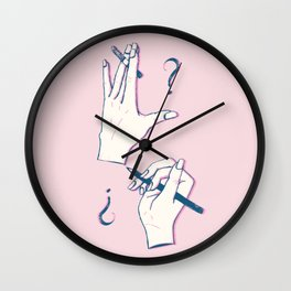 Undone Wall Clock
