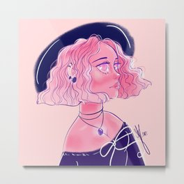 EDNA, the witch Metal Print