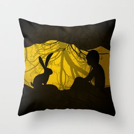 Rabbit hole Throw Pillow