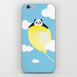 panda and balloon iPhone Skin