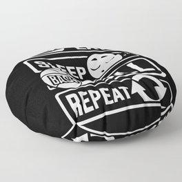 Eat Sleep Basketball Repeat - B-Ball Team Dunk Floor Pillow