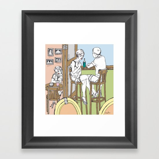 noon Framed Art Print