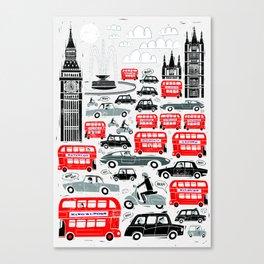 London Traffic Canvas Print