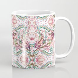 Lily, Leaf & Triangle Pattern – multi-color version Coffee Mug