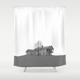 Button's Inn Shower Curtain