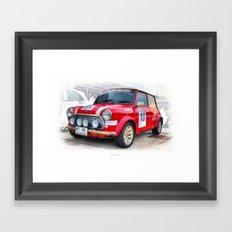 Red Mini #10 Framed Art Print