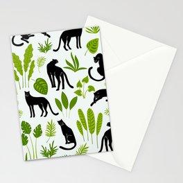 Black Jungle Panthers Stationery Cards