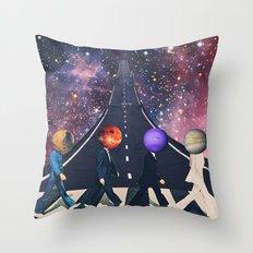 Across the Galaxy Throw Pillow