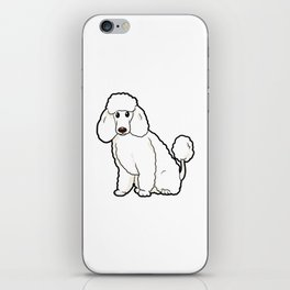 Poodle Dog funny happy cute Puppy love Owner gift iPhone Skin
