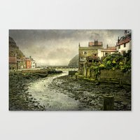 cassia beck Canvas Prints featuring The Beck at Staithes by tarrby/Brian Tarr