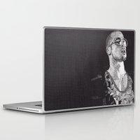 tyler durden Laptop & iPad Skins featuring Tyler Durden by Rik Reimert